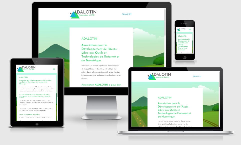 adalotin creation site internet pour association