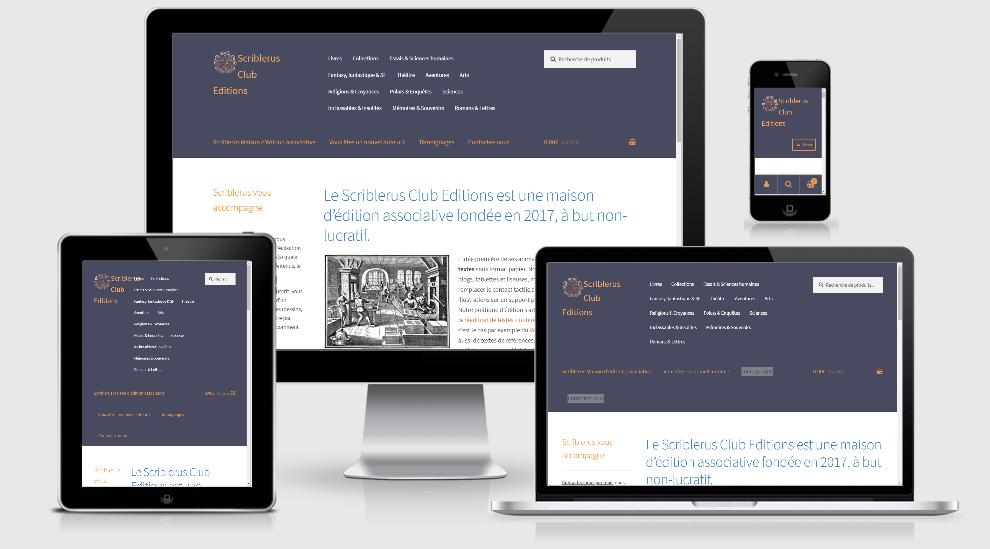 scriblerus creation site e commerce pour une association