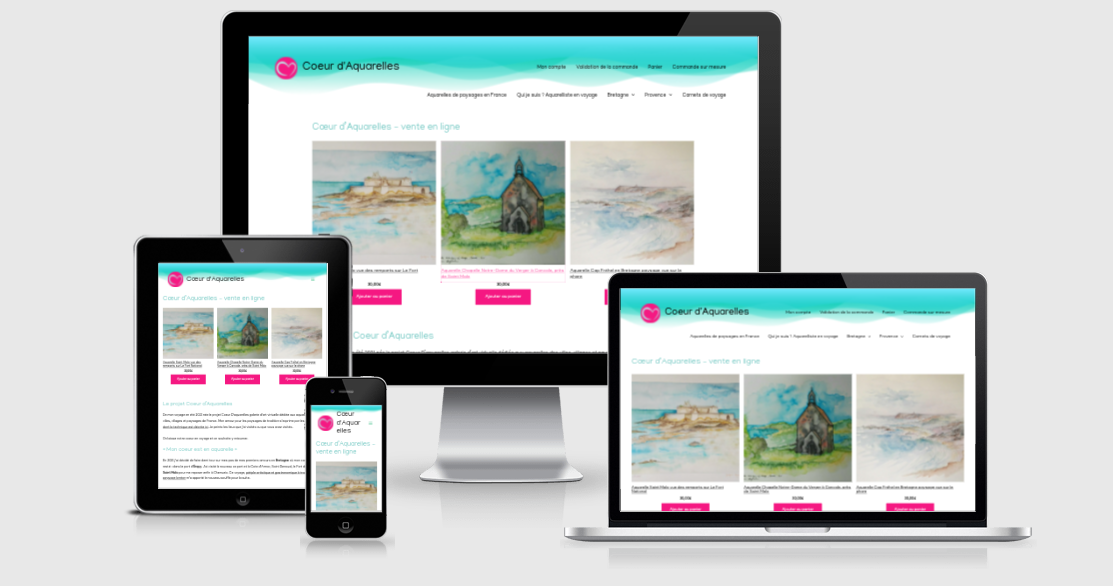 site galerie en ligne